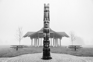 Totem pole at the Comox Marina